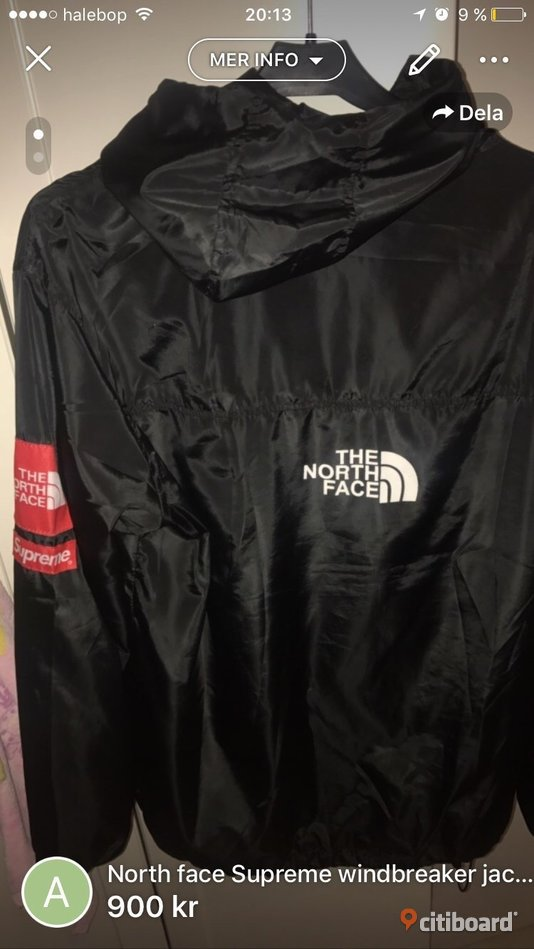 North face Supreme windbreaker jacket
