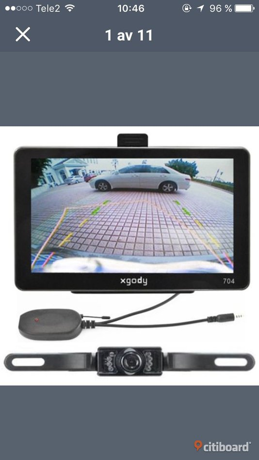 7 Inch Car GPS Navigator + Wireless Rearview Camera Värnamo Sälj