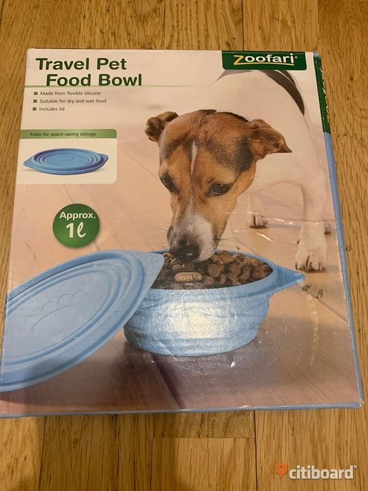 Zoofari Hundskål Travel pet food bowl NY Täby
