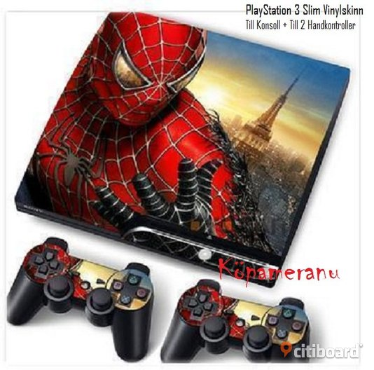SPIDERMAN COOLT & DEKORATIVT VINYLSKINNS COVER TILL PlayStation 3
