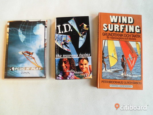Windsurfing. Vhs (The Moreno Twins)+Dvd+Bok. Eslöv Sälj