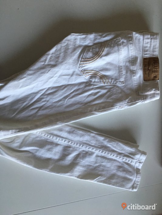 Vita jeans Hollister Midja 25-26 tum Varberg
