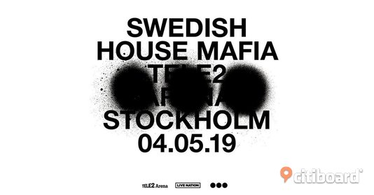 Swedish House Mafia 4/5 Biljetter Solna