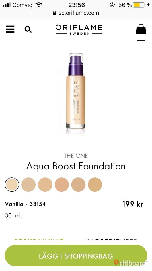 THE ONE Aqua Boost Foundation Strömsund Sälj