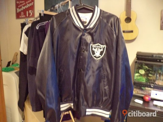 Sällsynt Vintage Chalk Line Los Angeles Oakland Raiders Satin NFL Jacket