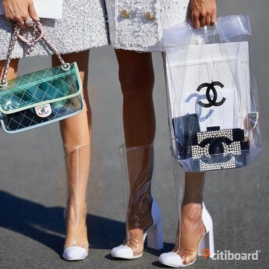 Chanel PVC Väska Bag Transparent  Uppsala