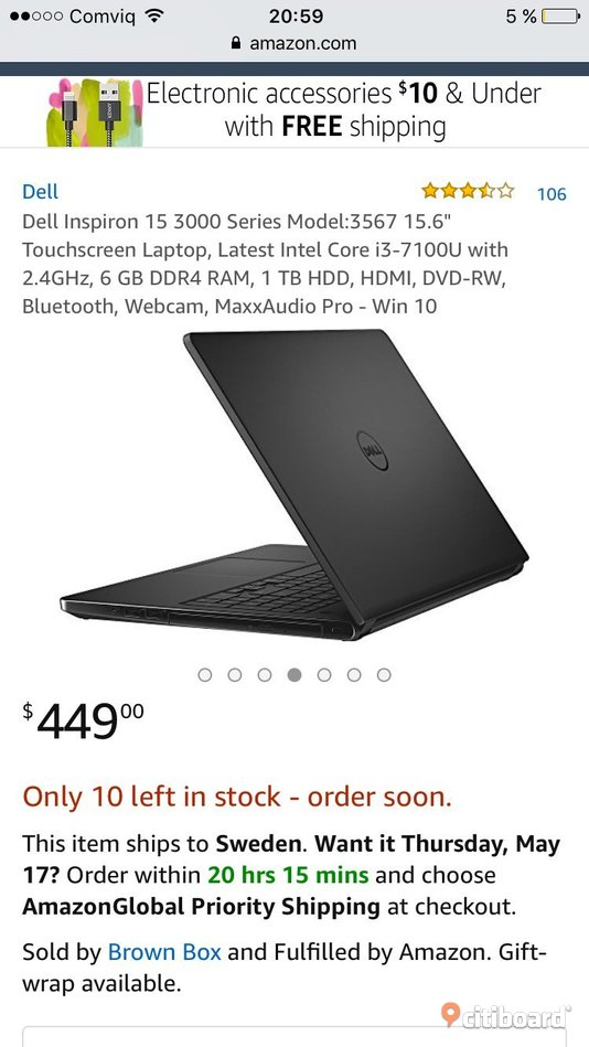 Dell laptop inspiron 3000 Täby Sälj
