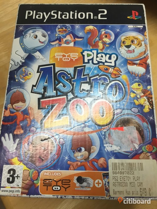 Ps2 Eye toy play Astrozoo med cam