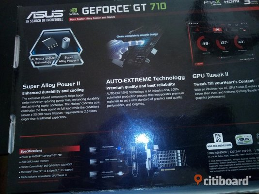 Grafikkort GEFORCE GT 710