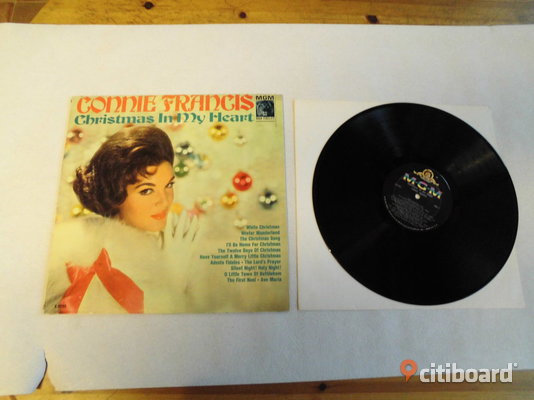 Connie Francis. Christmas In My Heart. Lp. 1959. US.  Eslöv