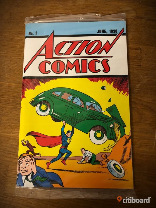 Officiell nyprint Action Comics no 1  Fritid & Hobby Nyköping / Oxelösund
