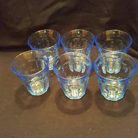 4 st retro glas, made in France.
