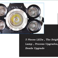 35000 LM 5X CREE XM-L T6 LED Rechargeable Headlamp Headlight Travel Head Torch biycle LED Light