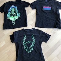 3 st rave tshirts, Small (S)