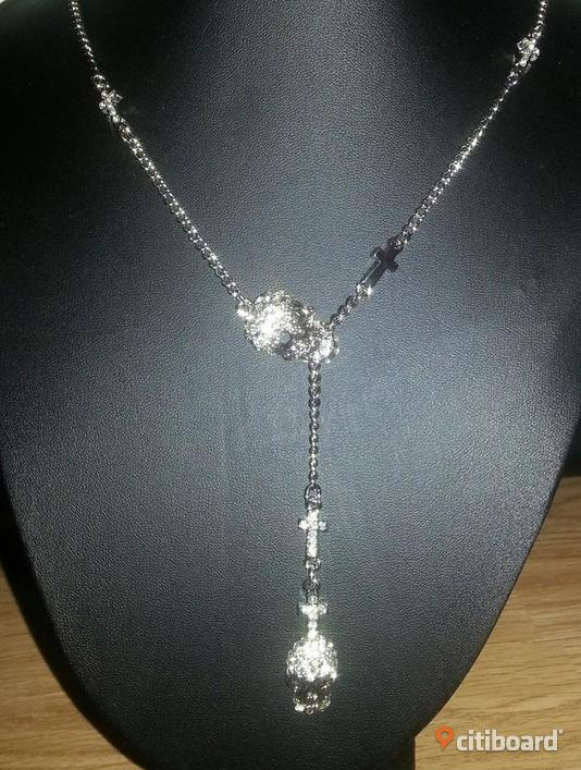 Supersnyggt halsband döskalle silver strass STYLE BY HOPE ... 3e1e852c7b5d0