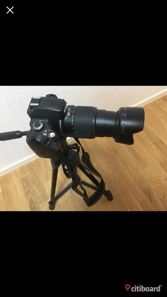 Nikon D40  object 55-200mm  battery charger +camera stand  Stockholm Sollentuna