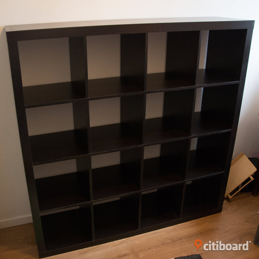 ikea expedit kallax hylla 4x4 fack g teborg citiboard. Black Bedroom Furniture Sets. Home Design Ideas