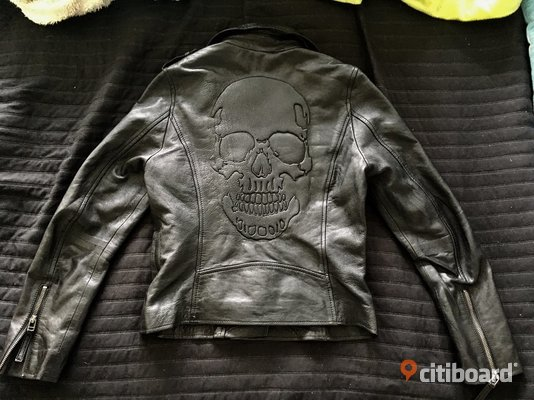 Skull leather jacket skinnjacka Stockholm citiboard
