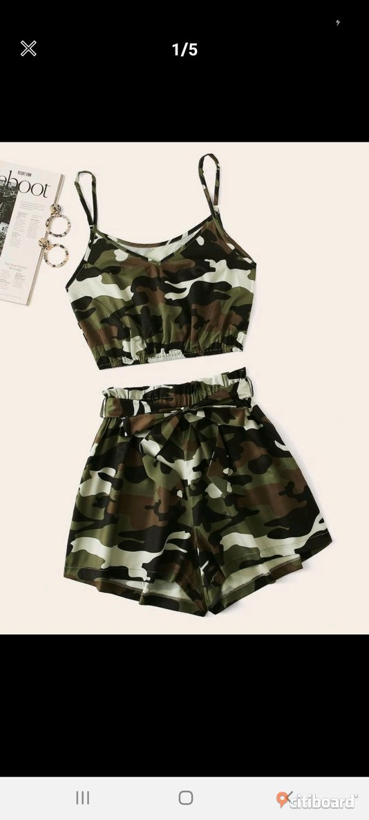 Co ord set shorts top ny 40-42 (M) Falun / Borlänge