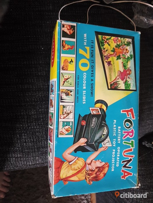 Fortuna battery operated plastic toy projector 1970 Högsby