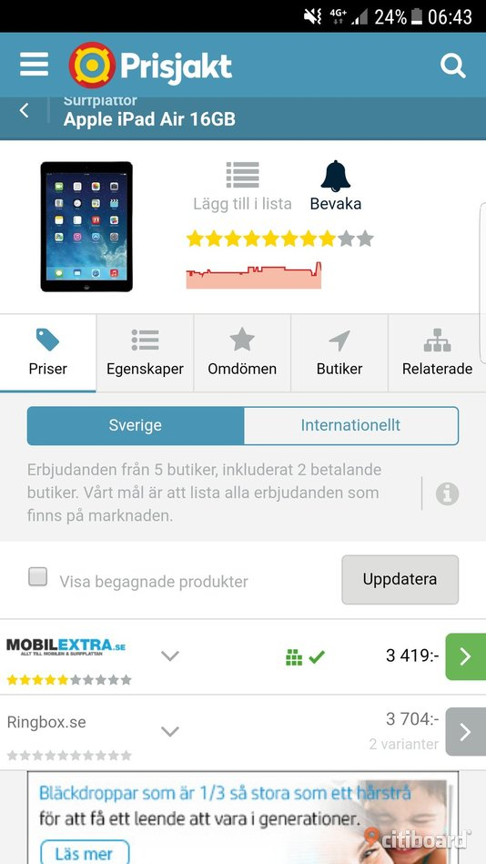 IPad air 16gb vit Göteborg