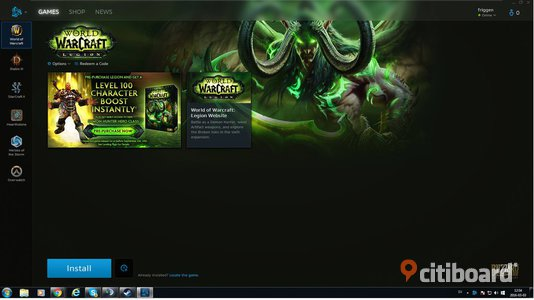 World Of Warcraft Account + alla expansions inklusivt  Legion Delux Edition