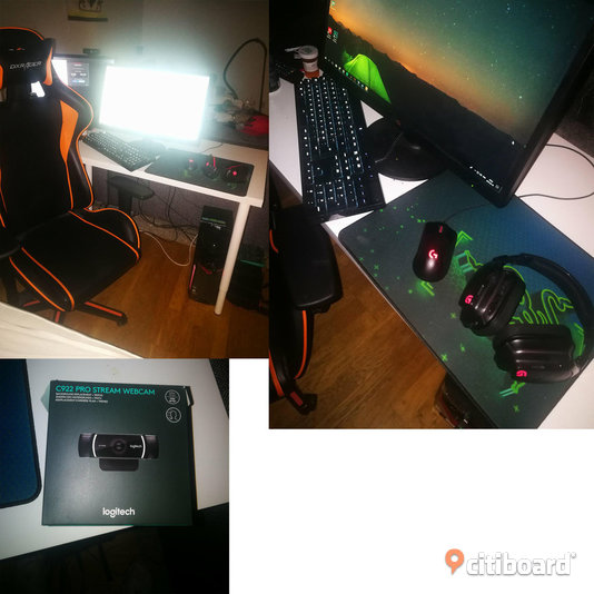 Speldator med Logitech set-up och 144hz
