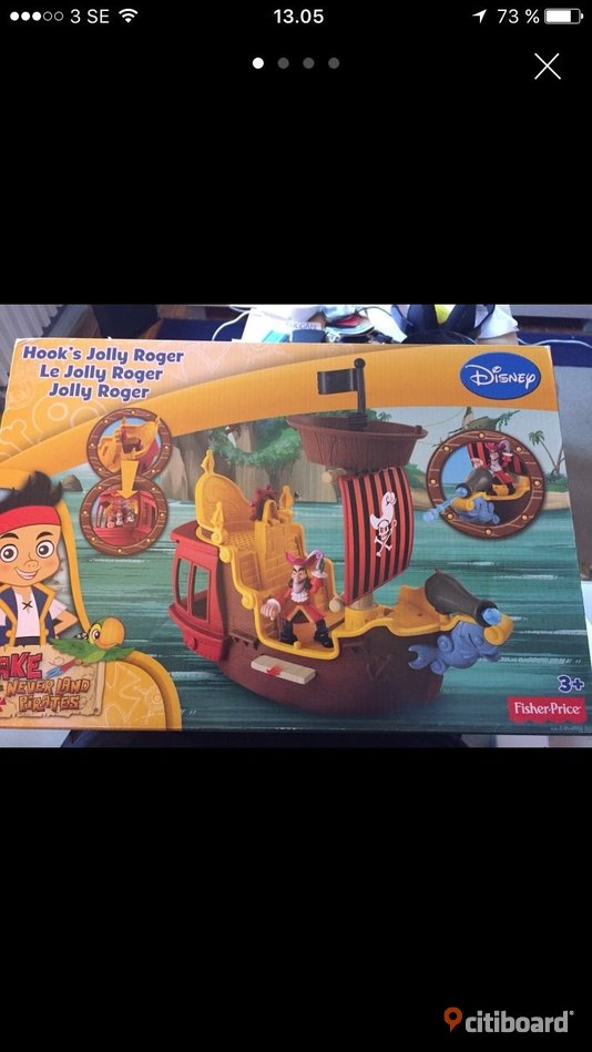 Fisher price pirate ship. New. - Skåne, Malmö - Never opned. Jake and the neverland jolly roger pirate ship. - Skåne, Malmö