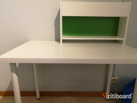 Desk and Shelf from Ikea Boxholm