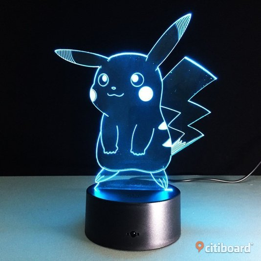 3D vision night ledlamp pokemon pikachu Essunga