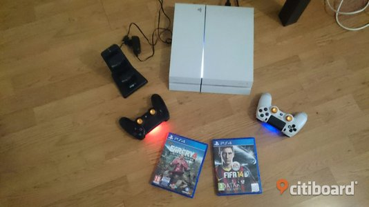 PlayStation 4 (PS4) Spelkonsol 500 GB (vit) paket  Skövde