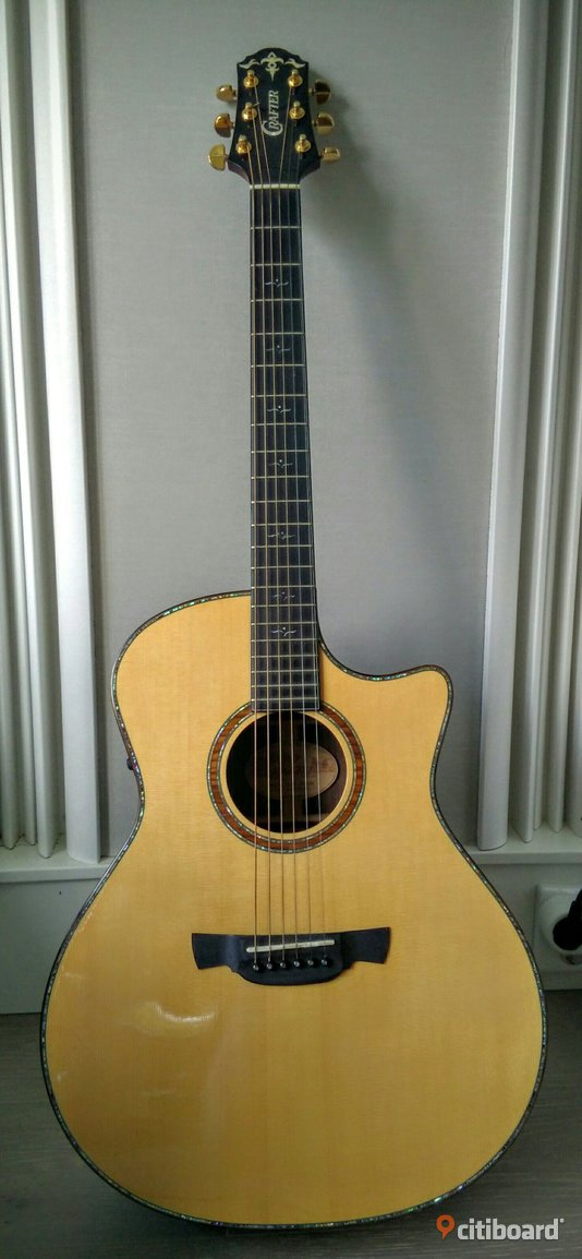 Crafter GLXE-4000/RS/N, Acoustic guitar, Solid German SP - Stockholm, Huddinge - Crafter GLXE-4000/RS/N, Acoustic guitar, Solid German SP MODEL NAME: GLXE-4000/RS BODY STYLE: Grand Auditorium Cutaway TOP: Solid Spruce  BACK: Solid Indian Rosewood  SIDES: Solid Indian Rosewood  BRACING: Patented CRAFTER New Sca - Stockholm, Huddinge