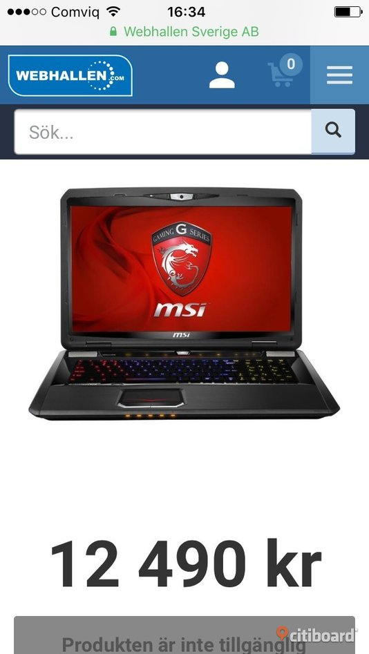 Msi Turbo gaming laptop Kungsör Sälj
