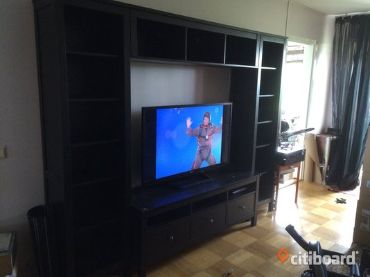 hemnes ikea tv m bel 4 delar botkyrka citiboard. Black Bedroom Furniture Sets. Home Design Ideas