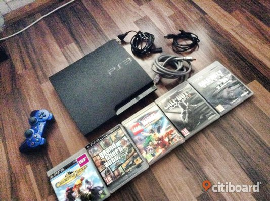 Ps3 250Gb - Västmanland, Västerås - Ps3 250Gb Följer HDMI Sladd till ps3 Kontroll USB laddare Spel: GTA V Call of duty black ops 2 Call of duty Ghost Lego Marvel Champion Jackey - Västmanland, Västerås