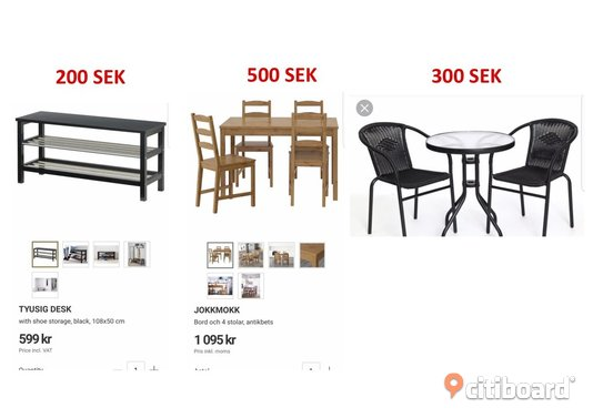 Few items are available for sell Uppsala