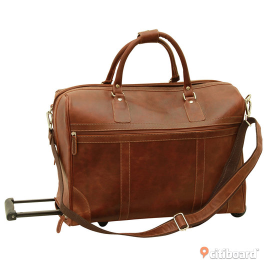 citiboard.se Nypris: 5.950: Old Angler Weekendbag Buffalo Leather Duffel Bag Trolley