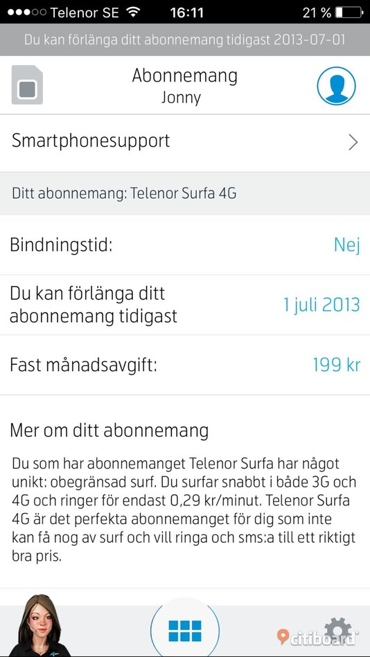 4g med fri surf