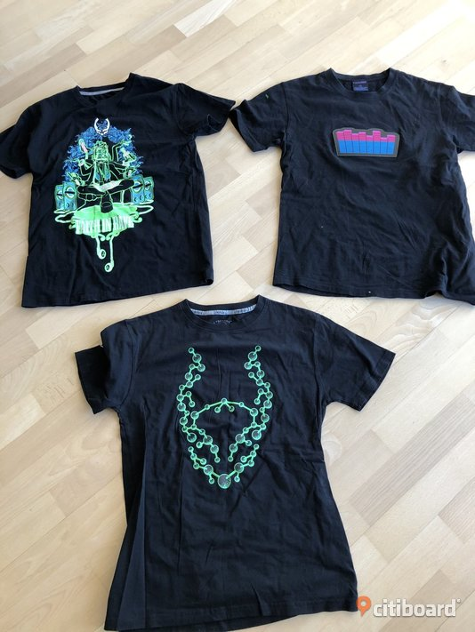 3 st rave tshirts, Small (S) 44-46 (S) Stockholm Stockholm